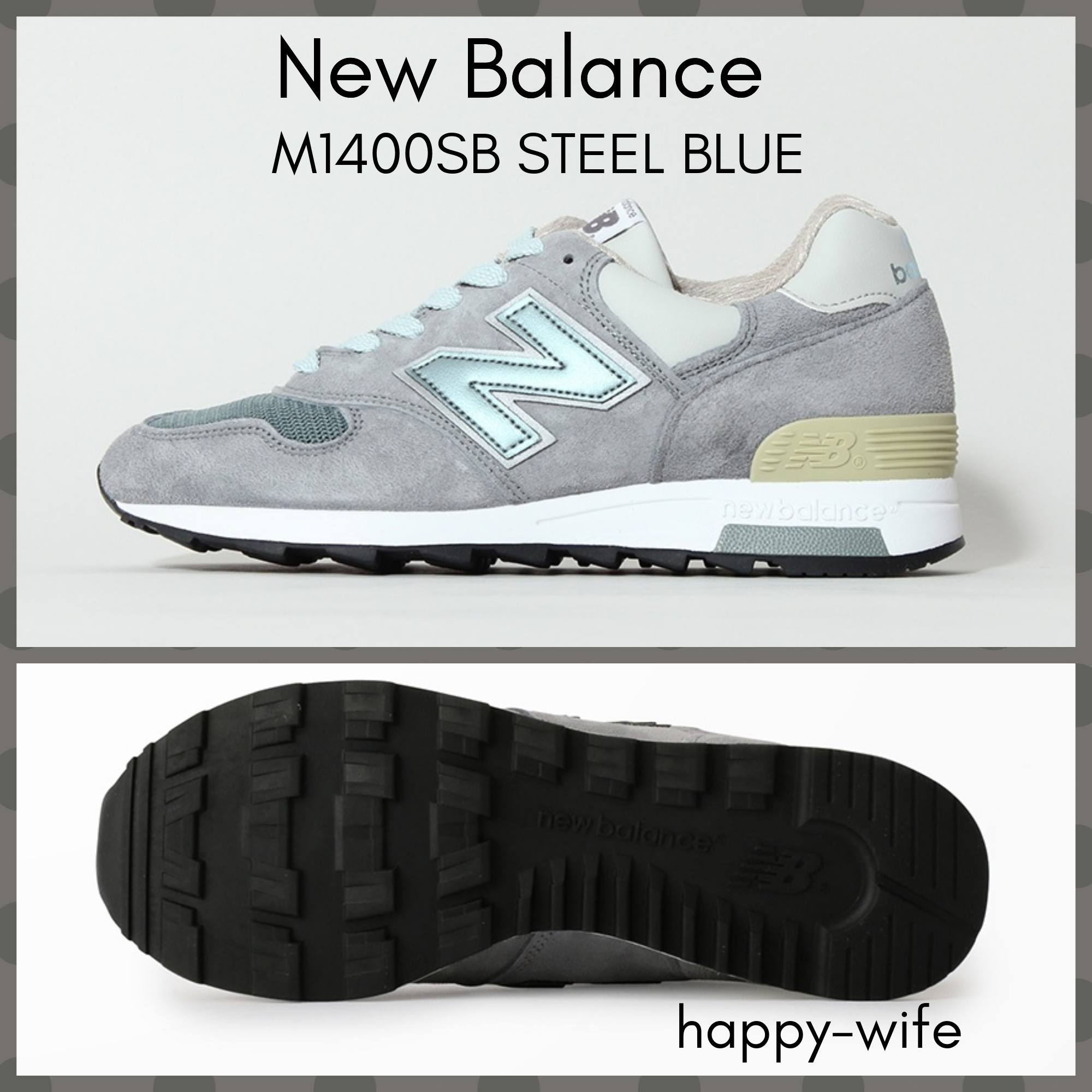 new style 95e7d 95f74 New Balance 1400 2019-20AW Suede Plain Sneakers