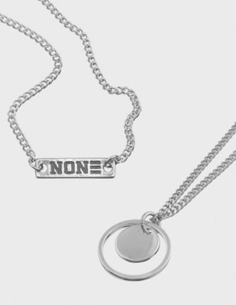 NONENON ネックレス・チョーカー 2点セット [NONENON] WIDTH PENDENT + NEW LOGO NECKLACE(3)