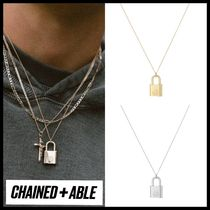 Chained & Able(チェーンドアンドエイブル) ネックレス・チョーカー 【関税送料込】Chained & Able★南京錠デザイン ネックレス 2色
