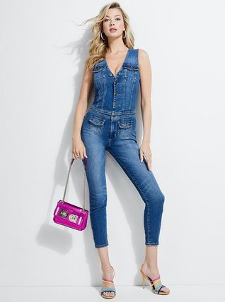 GUESS レイア Denim Jump Suit