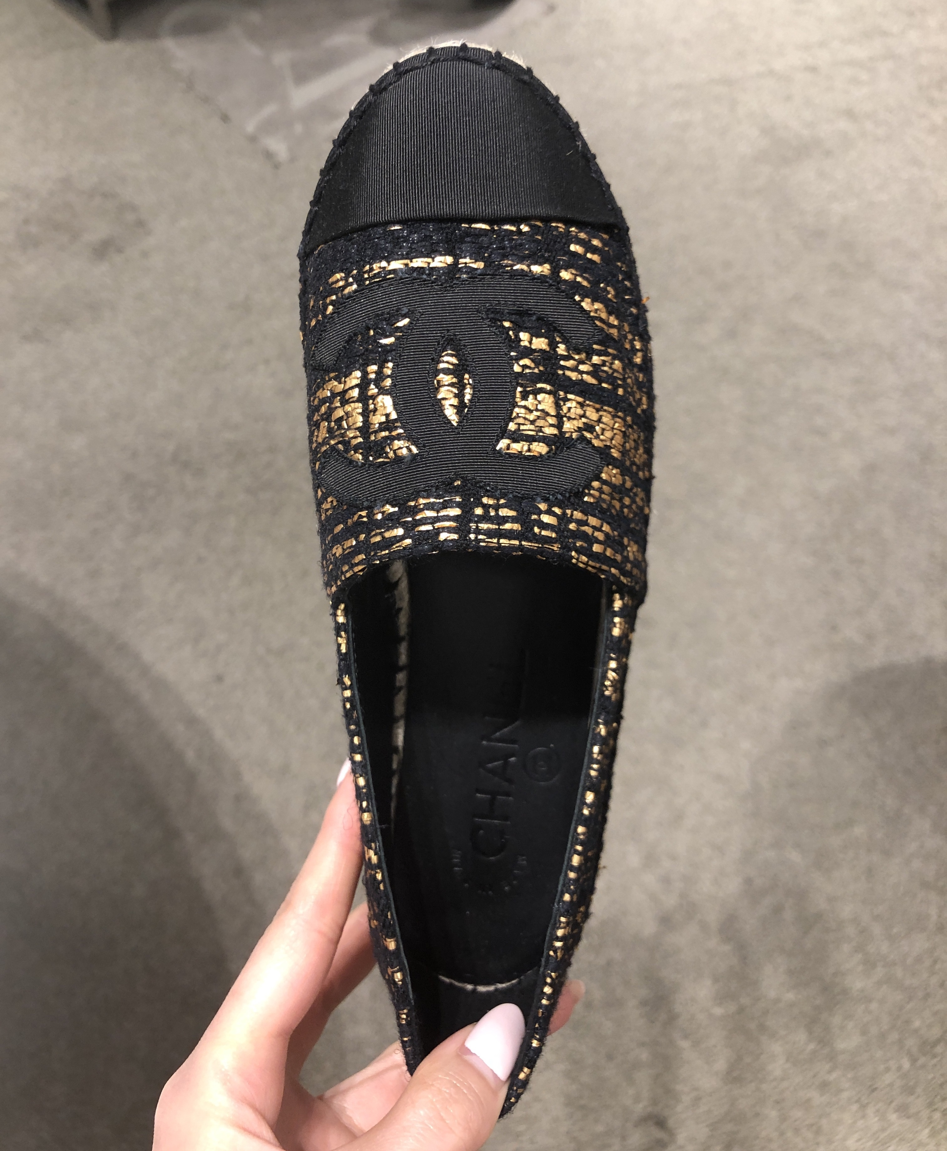Shop CHANEL 2019 SS Slip-On Shoes by M