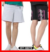 関税負担★人気【Off-White】★DIAG STENCIL MESH SHORTS★2色★