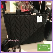【kate spade】可愛いキルトナイロントート★ellie large tote★