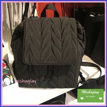 【kate spade】可愛いキルトナイロン★ large flap backpack ★