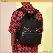 ◆FENDI  19SS◆Black nylon&leather backpack◆Bag Bugs eye◆