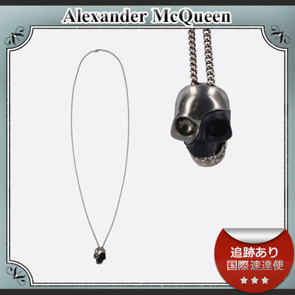 alexander mcqueen ネックレス・チョーカー 20AW /送料込≪Alexander McQ≫ DIVIDED SKULL 真鍮 ネックレス