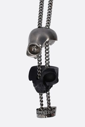 alexander mcqueen ネックレス・チョーカー 20AW /送料込≪Alexander McQ≫ DIVIDED SKULL 真鍮 ネックレス(4)