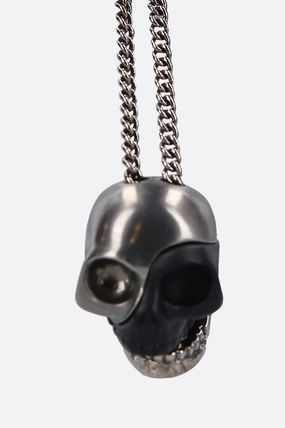 alexander mcqueen ネックレス・チョーカー 20AW /送料込≪Alexander McQ≫ DIVIDED SKULL 真鍮 ネックレス(5)