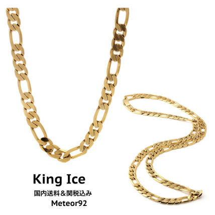King Ice ネックレス・チョーカー 【King Ice】10mm Figaro Chainネックレス/5種類【国内発】
