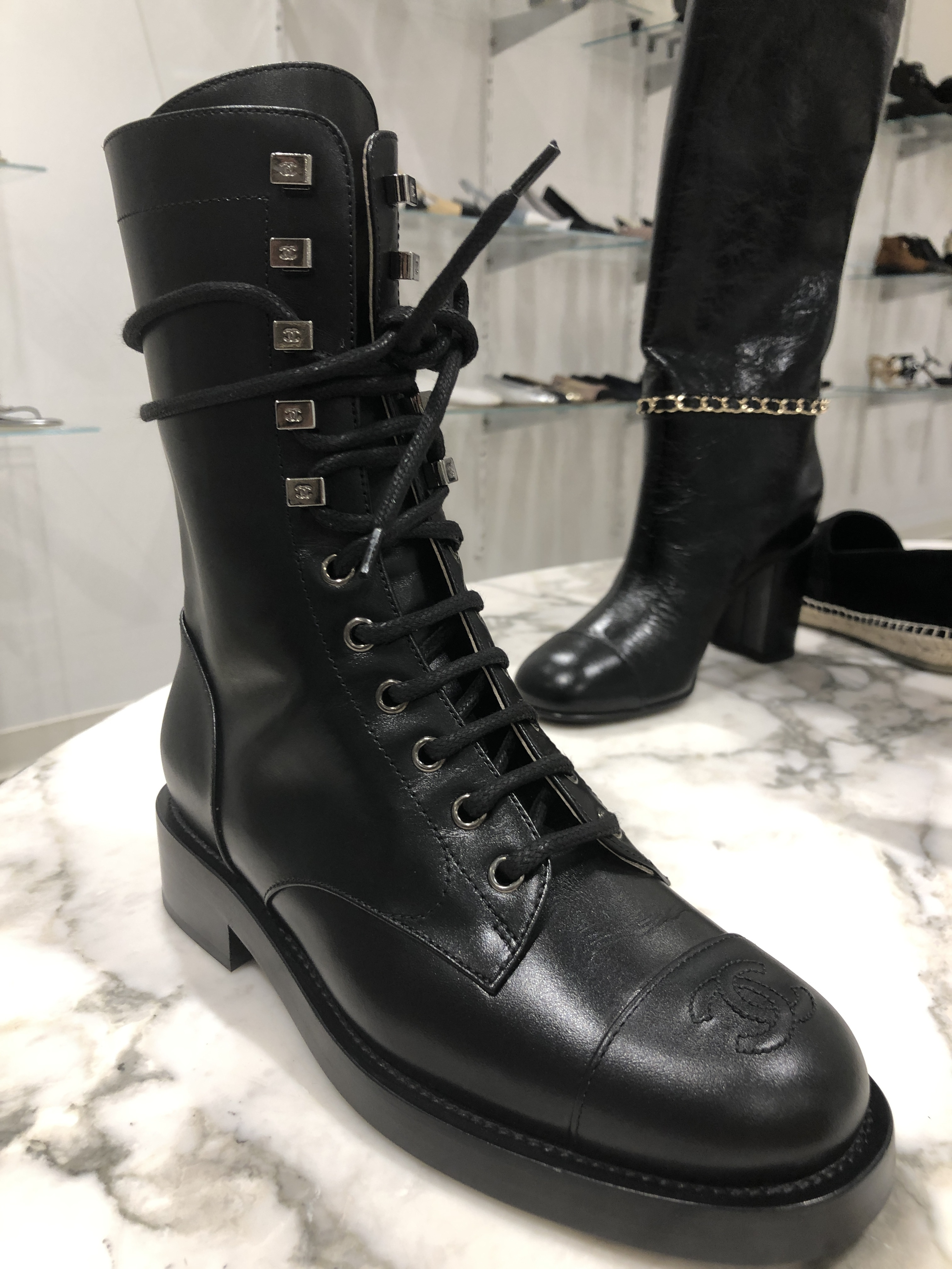 CHANEL 2019-20FW Lace-up Boots Boots