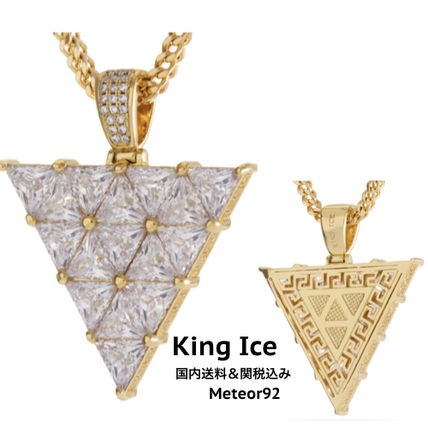 King Ice ネックレス・チョーカー 【King Ice】The 14K Gold Trinusネックレス【国内発】