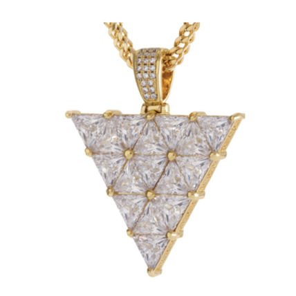 King Ice ネックレス・チョーカー 【King Ice】The 14K Gold Trinusネックレス【国内発】(2)