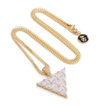 King Ice ネックレス・チョーカー 【King Ice】The 14K Gold Trinusネックレス【国内発】(4)