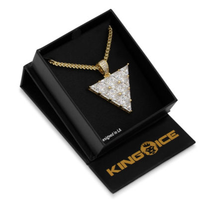 King Ice ネックレス・チョーカー 【King Ice】The 14K Gold Trinusネックレス【国内発】(5)