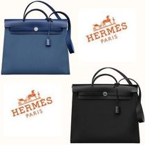 NEW HERMES◆HERBAG ZIP 39 BLACK & BLUE BRIGHTON◆
