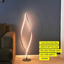 Brightech☆ Twist - Modern LED Living Room Floor Lamp