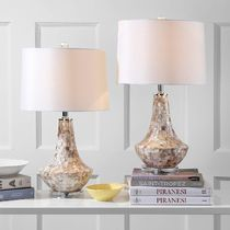 お得2個セット☆Kobe Ivory Shell 24-inch Table Lamp (Set of 2