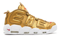 "SUPREME x NIKE AIR MORE UPTEMPO ""SUPTEMPO"" SS 17 Gold"