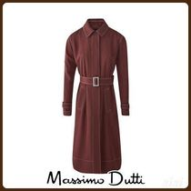 MassimoDutti♪RELAXED TRENCH COAT WITH TOPSTITCHING