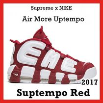 "SUPREME x NIKE AIR MORE UPTEMPO ""SUPTEMPO""  RED SS 17"