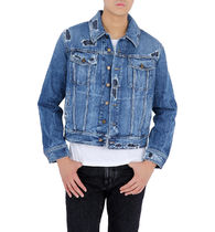 【関税負担】 SAINT LAURENT DISTRESSED DENIM JACKET