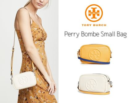 Tory Burch◇Perry Bombe Mini Bag◇ロゴ型押しミニバッグ