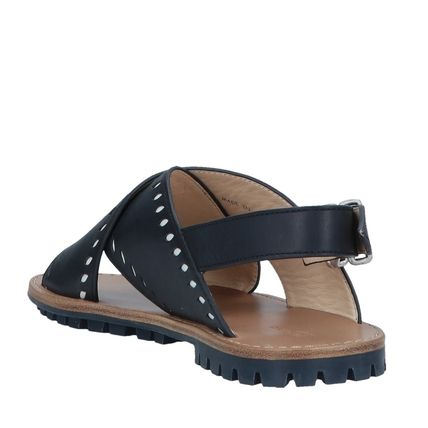 "JIL SANDER NAVY シューズ・サンダルその他 ""JIL SANDER NAVY""  CROSSOVER LEATHER SANDALS NAVY(4)"