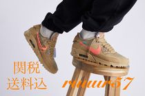 ★関税・送料込★ 《Off White×Nike》Air Max 90 desert ore