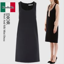 Christian dior wool and silk mini dress
