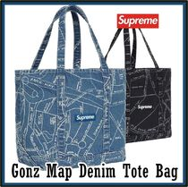 SUPREME シュプリーム Gonz Map Denim Tote Bag SS 19 WEEK 14