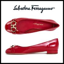 関税込★Ferragamo★フェラガモ★GARDA FLAT SHOES LIPSTICK RED