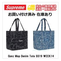 国内発送!Supreme Gonz Map Denim Tote SS19 W14 デニムトート