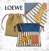【LOEWE】SS19 Paula's Small Drawstring Pouch Stripes