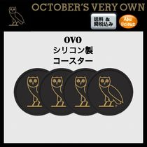 OCTOBERS VERY OWN(オクトーバーズ ベリー オウン) キッチン雑貨 Drake監修☆OVO コースター4枚セット OCTOBERS VERY OWN