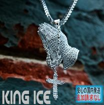 LA発★King Ice★HipHopペンダントThe Rosary Praing Hands