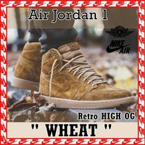 "NIKE Air Air Jordan 1 Retro High OG ""Wheat"" 2017 送料無料"