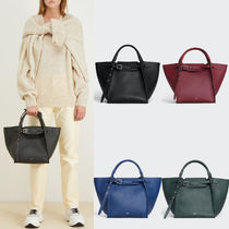 CE014 SMALL BIG BAG WITH STRAP IN SUPPLE GRAINED CALFSKIN