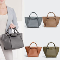 CE015 SMALL BIG BAG WITH LONG STRAP IN SMOOTH CALFSKIN