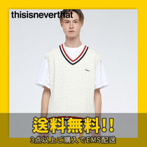 ★thisisneverthat★ tennis knit vest