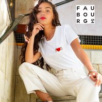 日本未入荷 FAUBOURG54★T-shirt Power of Love brodeハートロゴ