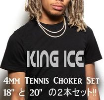 LA発ストリート☆King Ice☆HipHopチェーンTennis 4mm 2本セット