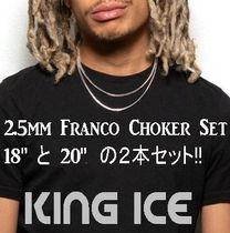 LA発ストリート☆King Ice☆HipHopチェーンFranco2.5mm2本セット