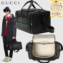 【正規品保証】GUCCI★19/20秋冬★LEATHER CARRY-ON DUFFILE