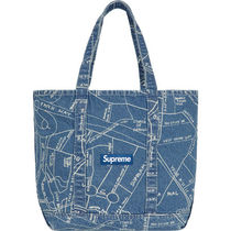 Supreme / Gonz Map Denim Tote SS19 Week 14