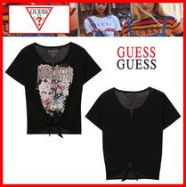 ☆【GUESS】☆LESS BITTER MORE GLITTERフロント束ね Tシャツ☆