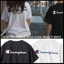 国内発・正規品★Champion★MEN'S BACK PRINT CREW NECK T-SHIRT