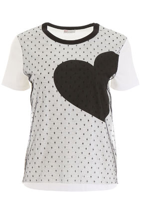 RED VALENTINO Tシャツ・カットソー RED VALENTINO  Plumetis T-Shirt With Heart(2)