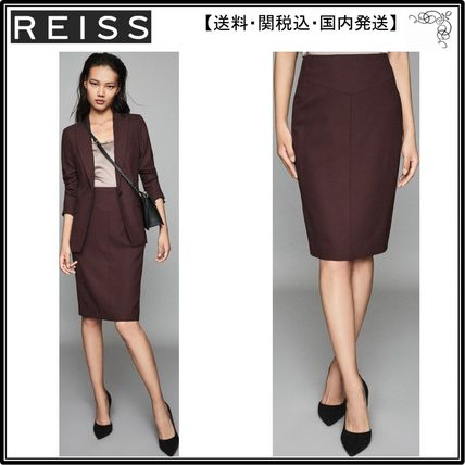 bad0d107a REISS スカート 【海外限定】REISS スカート☆LISSIA SKIRT TEXTURED PENCIL SKI ...