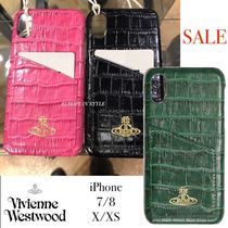 Vivienne Westwood iPhone ケース ポケット付  クロコ