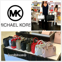 6月新作 Michael Kors★SAVANNAH SM SATCHEL*サフィアーノレザー
